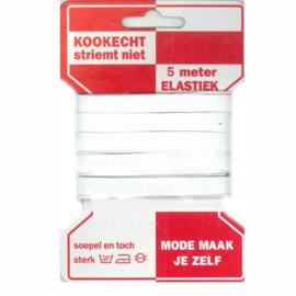 Rodekaart Elastiek wit 10mm