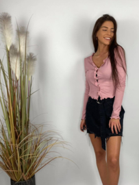 Roze  blouse met knoopjes