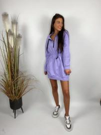 Lila sportief kleedje met kap