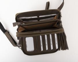 Bag 2 Bag grote wallet met schouderband gibson olijf