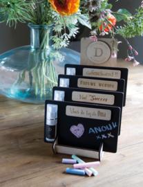 Boodschap door de brievenbus wenskaart met homespray