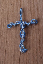 ketting hanger kruis aluminium