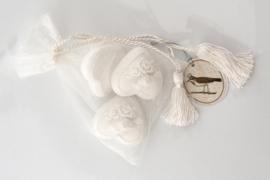 Geurstenen - Hartjes wit