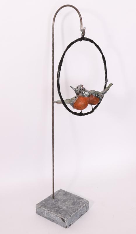Staander met vogels in ring