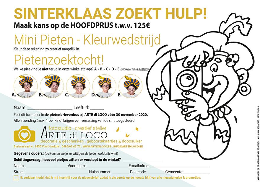 """wedstrijdformulier """"Sinterklaas zoekt hulp!"""""""