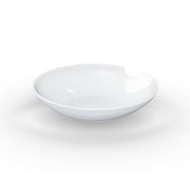 """2 Diepe borden (18 cm) met een """"bite"""""""