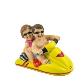 Man en vrouw op een jetski