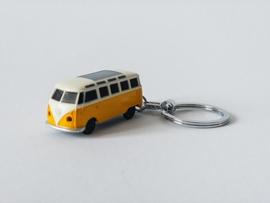 VW sleutelhanger T1 Bus geel met ledverlichting