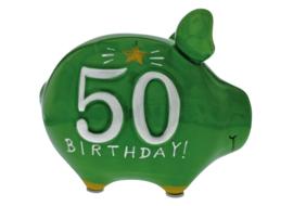 Spaarvarken 50 birthday