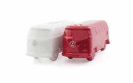 Peper en zoutstel T1 bus rood/wit