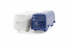 Peper en zoutstel T1 bus blauw/wit