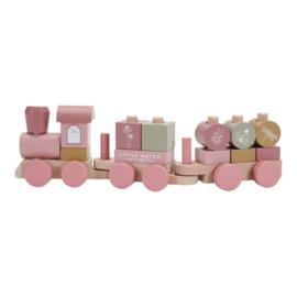 LD7035 Houten trein roze