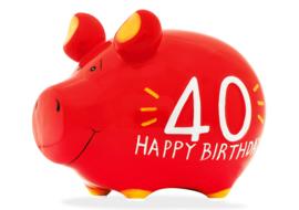 Spaarvarken 40 birthday