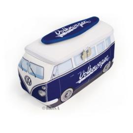 VW T1 Bus 3D universele tas - blauw groot