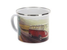 "VW T1 emaille beker T1 ""Highway"""