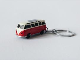 VW sleutelhanger T1 Bus rood met ledverlichting