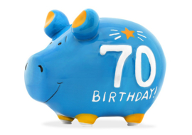 Spaarvarken 70 birthday