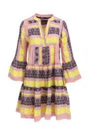 Short Dress Ella Pink/Black