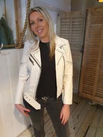 Leather Jacket Onterio White