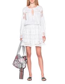 Short Dress Lace Kaliroi White