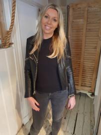 Leather Jacket Veg Kolachi Black
