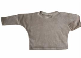 Oversized sweater velours sand
