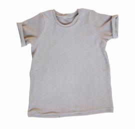 T-shirt badstof sand