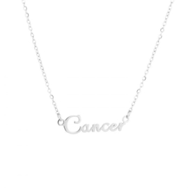 """Ketting """"Cancer"""" Zilver"""