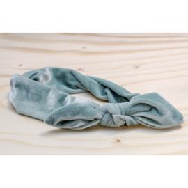 Haarband Titia fluweel pastel mint