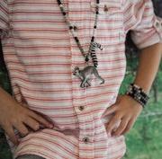 Boys armband zwart - grijs