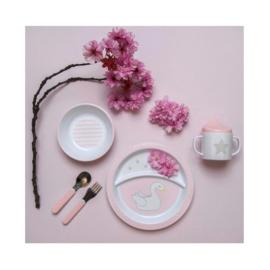 Eetset zwaan - roze