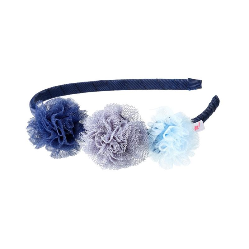 Diadeem Denu blauwe bloemen