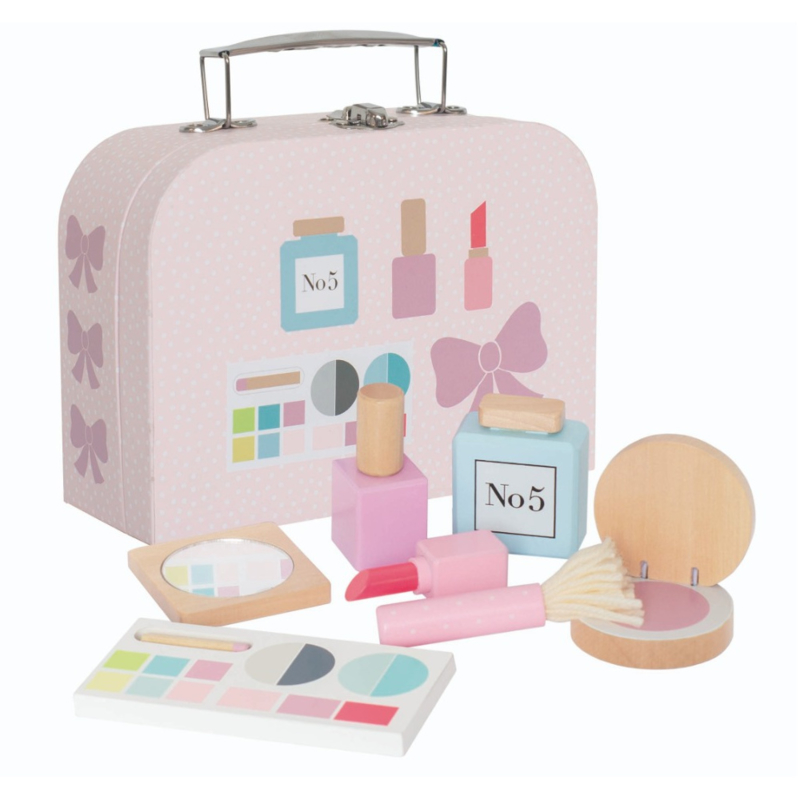Koffer met make-up set