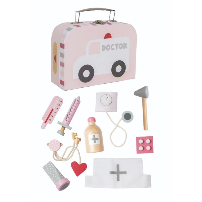 Dokters koffertje roze