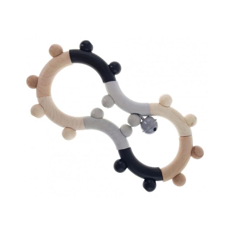 Rammelaar 8 vorm naturel - zwart