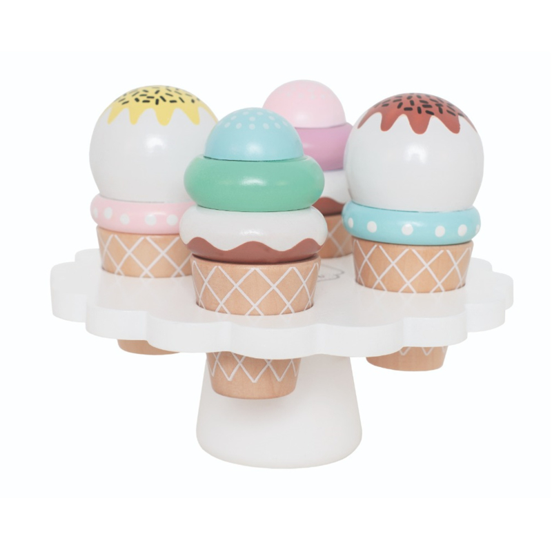 Speel set ijsjes op schaal