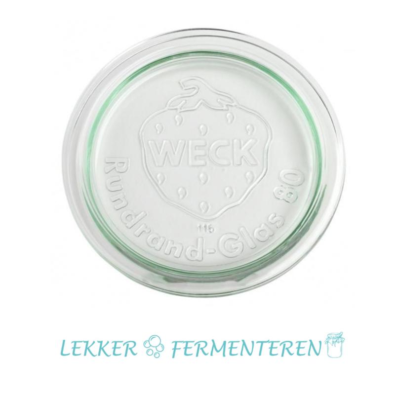 Weck - Glasdeksel - Ø 80 mm - 1 stuk -glasgewicht