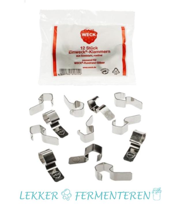 WECK klemmen (12 stuks) Merk: WECK Materiaal: Rvs/inox