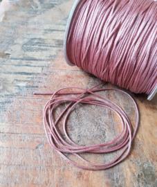 Macramé draad 1mm Antique Pink