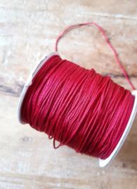 Macramé draad 1mm Aubergine Red