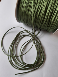 Macramé draad 1mm Olive green