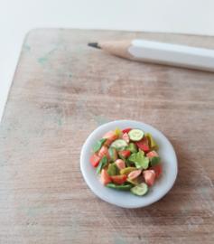 Miniatuur zalm salade