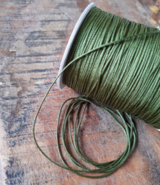 Macramé draad 1mm Fairway Green