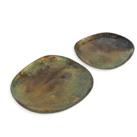 Metalen dienbladen (set van 2)