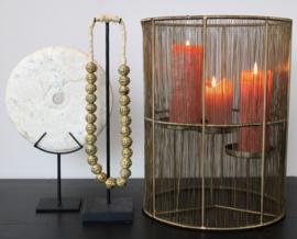 Windlicht brass antique