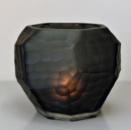 Carved bowl black large