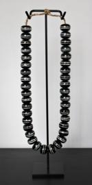 Kralenketting zwart/wit