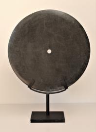 Schijf zwart hardsteen XL