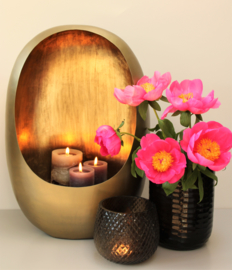Egg candles gold
