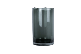 Ribbel windlicht/vaas smoke XL